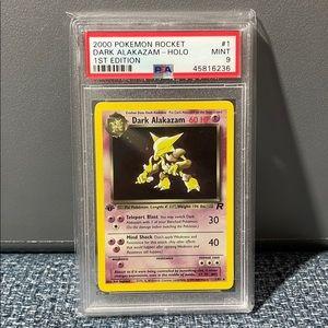 PSA 9 1st edition Dark Alakazam Pokémon